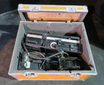 Spotlight Vedette 12 followspot with gel holder in flightcase. Does not include stand