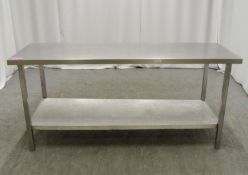 Preparation table 1830mm W x 610mm D x 830mm H