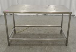 Preparation table 1400mm W x 700mm D x 870mm H