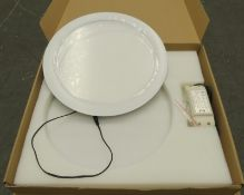 9x Parry PDLED 18WDL White LED down downlight 300x12mm