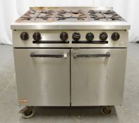 Falcon 6 burner range oven, natural gas