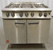 Falcon E3101 6 burner range oven, natural gas