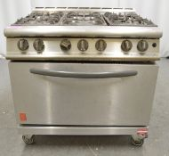 Falcon G3101 6 burner range oven, natural gas