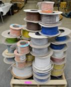 29x Spools of various electrical cable see pictures for wire spec.