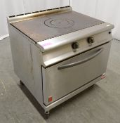 Falcon G3107 solid top range oven, natural gas