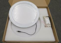 7x Parry PDLED 18WDL White LED down downlight 300x12mm