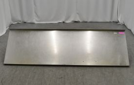 Stainless steel wall shelf 2200mm W x 650mm D
