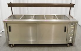 Bain marie & hot cupboard, 1 phase electric