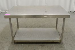 Preparation table 1200mm W x 700mm D x 720mm H