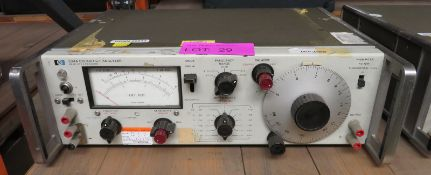 Hewlett Packard 334A distortion analyzer