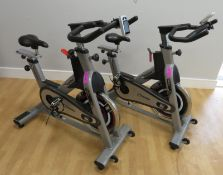 2x Impulse Model: PS300D Spin Bike With Digital Console. Adjustable Seat & Handle Bars. Faulty.