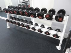 Jordan Dumbbell Set 2.5kg - 25kg Including Rack. See Description For Weight Ranges.