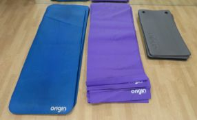 27x Origin Studio Fitness Mats. See Description For Quantities And Dimensions.