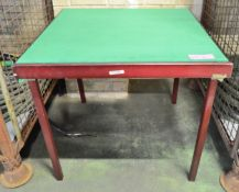 Wooden Card Table L 770 x W 770 mm