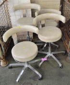 4x Swivel chairs - 1 missing 1 wheel