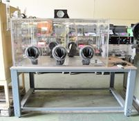 Belle Technology Laboratory gas chamber testing / examnation station - 2000mm x 1200mm x 2