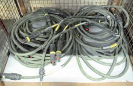 10x Various Lengths Of 95mm2 Electrical Cable