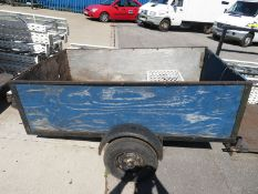 Single axle 4 sided trailer with towing hitch - 2000 x 1200
