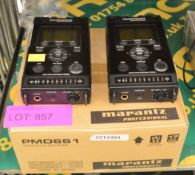2x Marantz Professional PMD661 Solid State Recorders