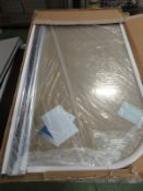 10x ALL CLEAR Single Panel Curved Bathscreens - 8mm Glass Silver
