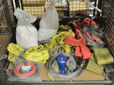 2x Vehicle Lashing Straps - 20 TON, 4x Steel Lifting Cables, Lifting Slings, Spanset Strop