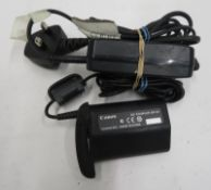 Canon DR-E4 DC coupler with mains adapter
