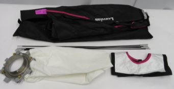 Bowens 1m x 1m softbox attachment for studio light in carry bag