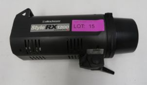 Elinchrom Style RX1200 studio light with cables