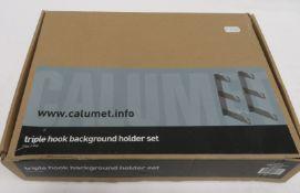 Calumet triple hook background holder set, unused in box