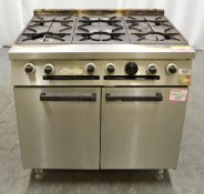 Falcon 6 Gas Burner Hob and Oven.