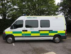 2006 Renault Master Converted Ambulance. Genuine Low Mileage. See description for full details.
