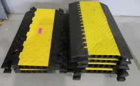 6x Protective rubber cable ramps/channels. (2 panels are different). Approximately 90x56cm