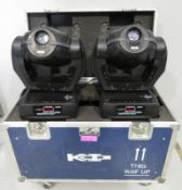 Pair of Robe Colourspot 250 AT Series in flightcase. Includes hanging clamps. Working con