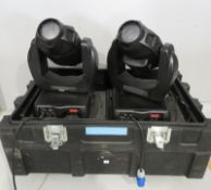 Pair of Varilite VL2402 Wash in flightcase. Includes hanging clamps and safety bonds. Work