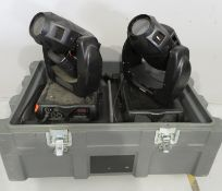Pair of Varilite VL2402 Wash in flightcase. Includes hanging clamps and safety bonds. 1 Wo