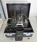 Pair of Pro Lyft PAE-500LV motorised chain hoist with flightcase. 500kg. Working condition