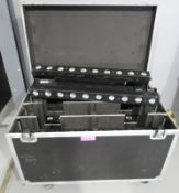 10x Showtec Active Sunstrip GU10 in flightcase. Complete with brackets. Working condition.