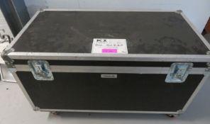 Flightcase with miscellaneous cable ends. Dimensions: 125x64x76cm (LxDxH)