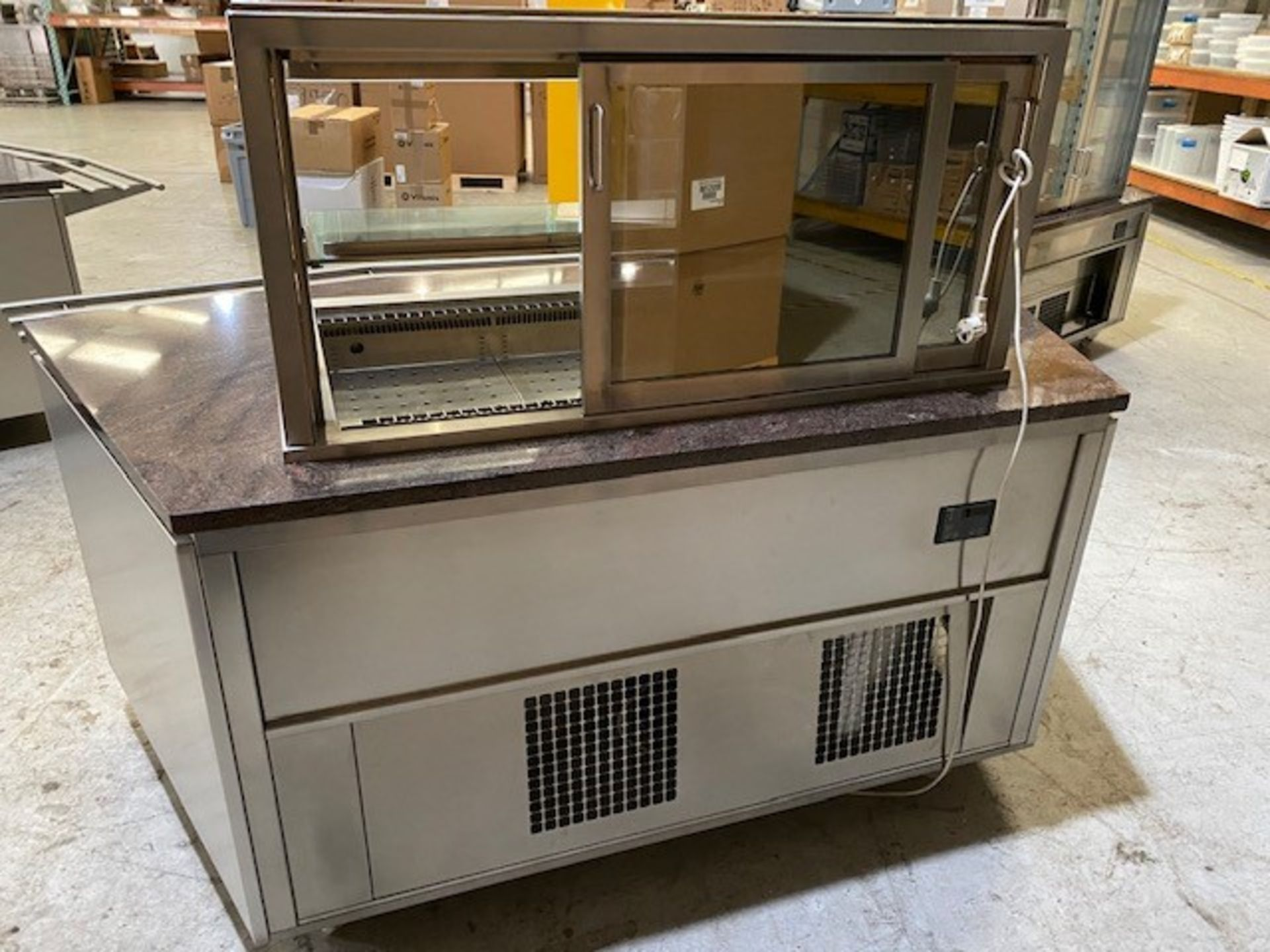 Lot 2 - Refrigerated Drop in Blown Air Well Self Service Unit.