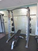 Gymgear Elite Series Smith Machine Complete With Cybex Bench & Weight Plates.