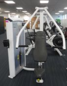 Cybex Chest Press Model: 12001. 103.5kg Weight Stack. Dimensions: 140x135x195cm (LxDxH) Pl