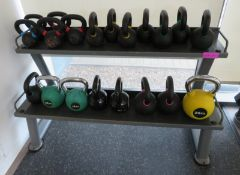 20 Piece Origin Kettle Bell Set With Jordan Rack. Sizes Range From 6-20kg