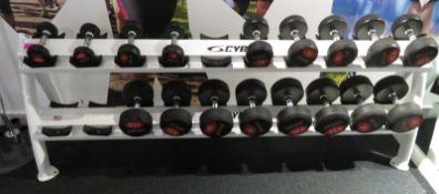 Jordan Dumbbell Set 2.5kg - 25kg Including Rack. See Description For Weight Ranges.