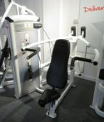 Cybex Overhead Press Model: 12010. 65kg Weight Stack. Dimensions: 150x160x150cm (LxDxH)
