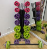 Physical Studio Weight Set Complete With Padded Bar. See Description For Contents.