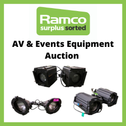 Professional AV & Events Equipment Auction (no public collection due to COVID-19 - shipping is available by pallet or parcel delivery)