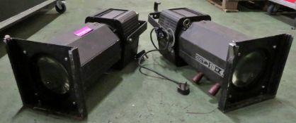 2x Silhouette 1200 PBU Starlette Zoom Profiles 19-45.