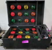 Retro Disco Light Cabinet 24 Bulbs and Controller Single Phase L670xW500xH400mm.