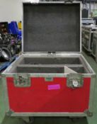 Various Electrical Components in ABS Flight Case On Wheels L700xW600xH460mm.