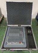 Soundcraft Spirit Live Mixing Desk in Handheld Flight case - Case L760xW190xH680mm.